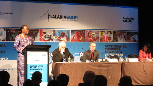 RBM Executive Director  Dr Nafo-Traore provides remarks at opening plenary of Malaria 2012 summit