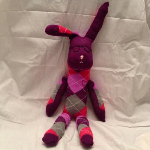 Hip(ster) Hop Hippity Hop Sock Bunny