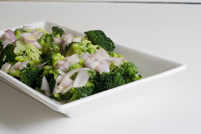 Brócoli con vinagreta de miel