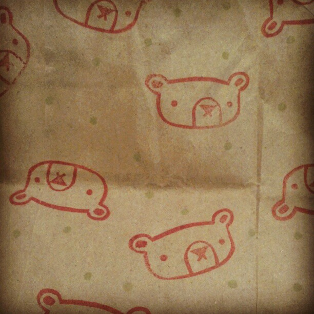 This bear is indifferent to being on wrapping paper. #bears #indifference