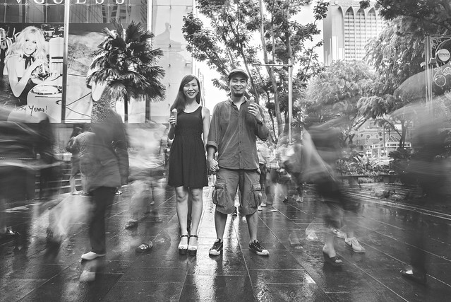 Pre wedding engagement photo in orchard road