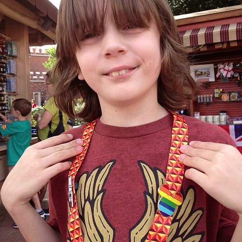 Jack pin trading and showing his LGBT support!! #newfantasyland