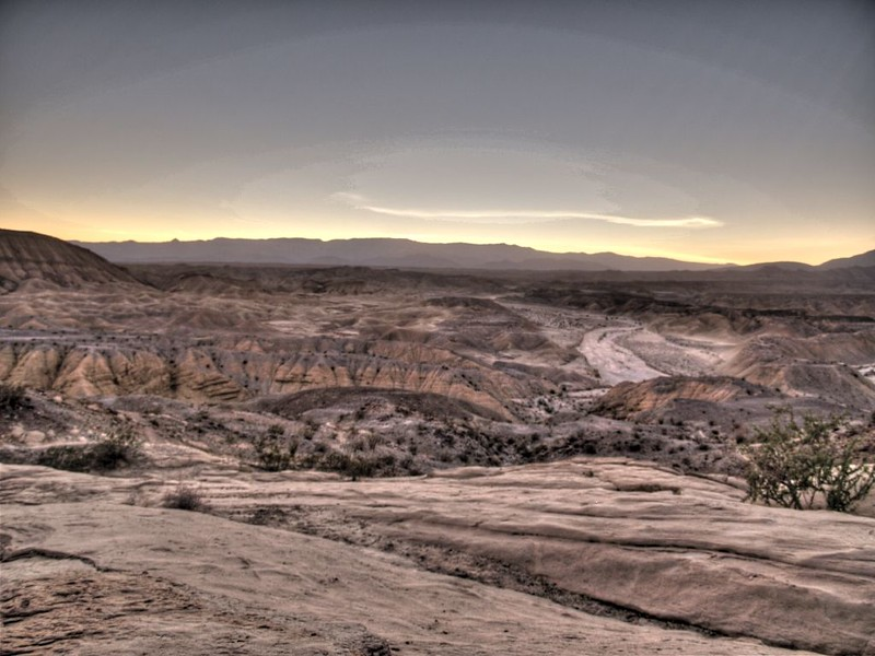 HDR shot of the sunset from the Wind Caves