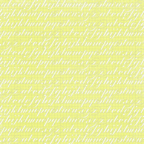 11 Chartreuse GF typography script paper 12 and a half inch 350 dpi