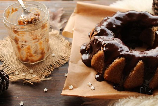 Bundt cake à la châtaigne et glaçage au chocolat
