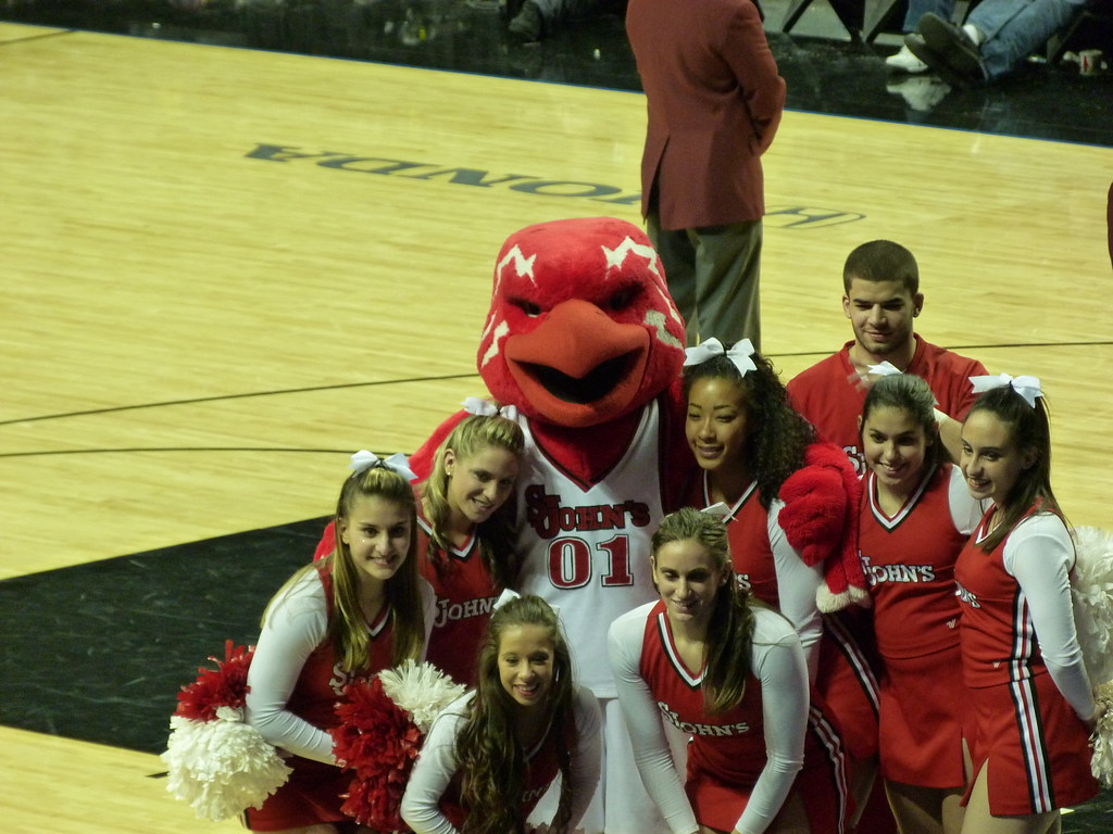 St. John's Red Storm Cheerleaders and Mascot