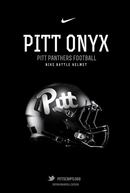 Pitt Panthers Football Helmet Onyx