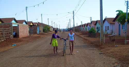 Real Conquista Project, Goiânia, Brazil. At the end of October 2006, 2,000 families who had been squatters on land closer to the city, had spent four months in gymnasiums and another three months under black plastic tents, received government housing