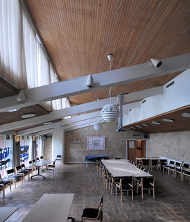 hans chr. hansen, architect: ringbo nursing home, bagsværd, copenhagen 1961-1963. communal space | by seier+seier