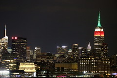 Photo of the Day Project, Sept. 14, 2016: The Empire State Building is lit red, white and green in honor of Mexican Independence Day.
