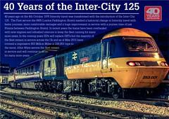 Inter-City 125 | 40yrs Poster | Red Logo