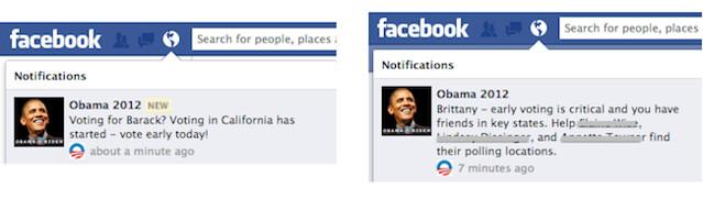 obama facebook notification