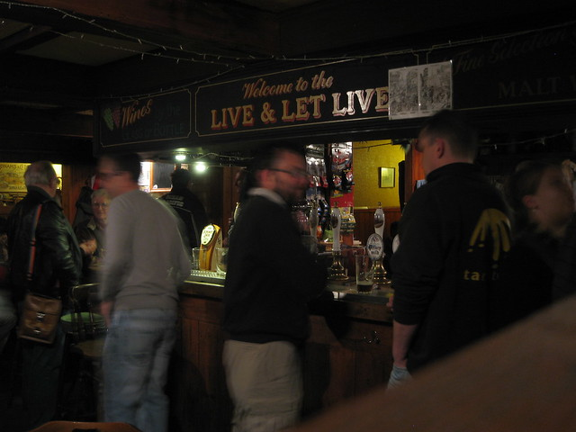 Live and Let Live pub in Cambridge