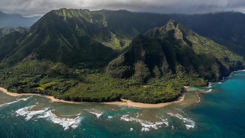 ocean park beach clouds island hawaii unitedstates pacific pacificocean kauai tunnels reef balihai haena keebeach wainiharidge tonyvanlecom