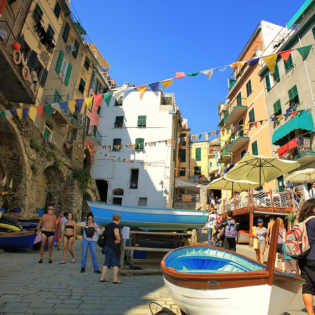 Relaxing summer afternoon in Riomaggiore
