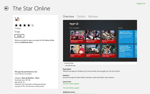 Windows 8 - Windows App Store - The Star Online