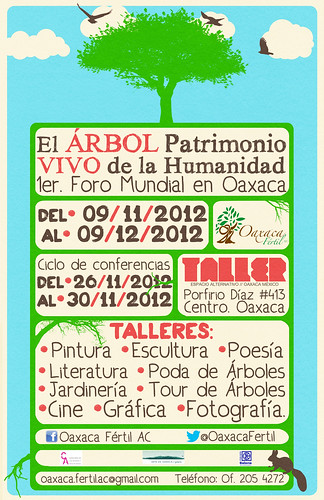 Conferences begin November 26: El Árbol Patrimonio VIVO de la Humanidad, Oaxaca, Mexico @OaxacaFertil @TurismoEconOax