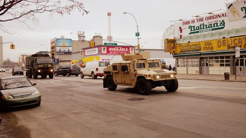 National Guard Vehicles in Coney Island