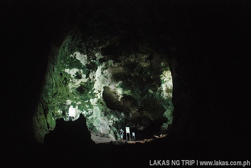 Other end of Liyang Cave in Tabon Caves Complex Site Museum Reservation in Lipuun Point, Quezon, Palawan