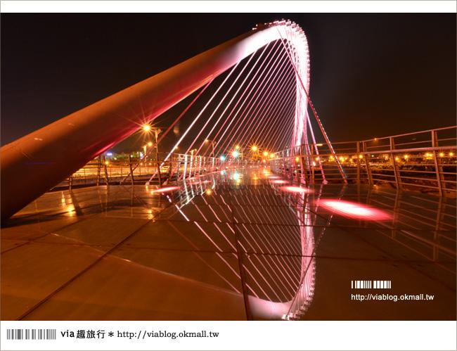 【台中夜景】情人橋夜景篇~原來,台中大坑的夜如此絢麗燦爛!