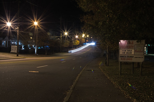 street longexposure night dark virginia streetlight shot nightshot streetlights spruce martinsville lighttrail lightstream carlight yabbadabbadoo d7000