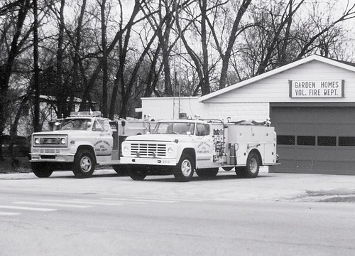 Garden Homes Volunteer Fire Station  on West 119th Street. Garden Homes Illinois. ( South suburban Alsip IL area) April 1990. by Eddie from Chicago