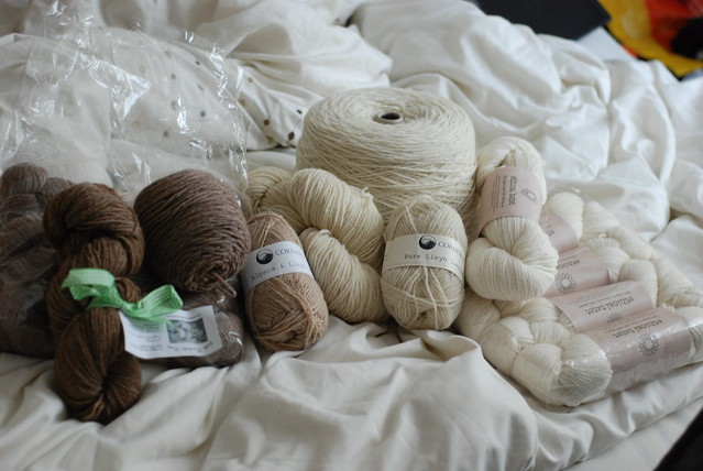 Rosewood Farms Cornish Eco Ethical Twist Little Houndsdale natural colored sheep wool and alpaca yarns