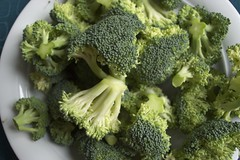savoy cabbage(0.0), leaf vegetable(0.0), rapini(0.0), broccoli(1.0), vegetable(1.0), produce(1.0), food(1.0), broccoflower(1.0),