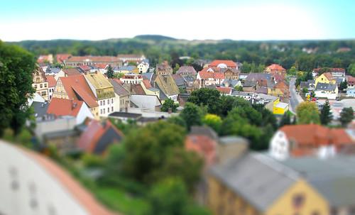 castle canon saxony fake faux schloss tiltshift toytown colditz colditzcastle schlosscolditz isde2012