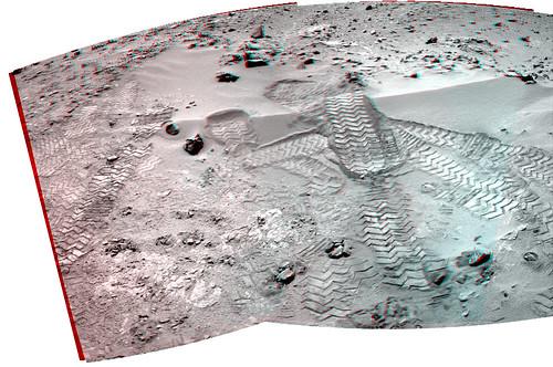 Curiosity sol 102 Navcam anaglyph