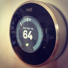 Photo of a Nest thermostat by James Britton from Flickr