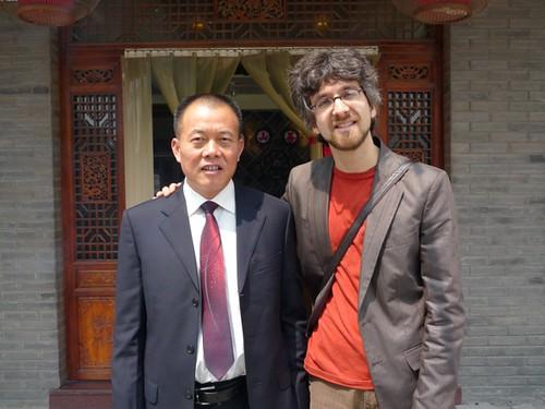 Jasmin et M. Liu, producteur de Bi Luo Chun, Jiangsu