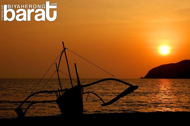 sunset in nagsasa cove san antonio zambales