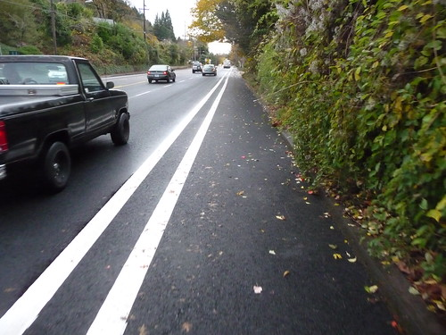 Brand New Buffered Bike Lanes on SW Barbur Blvd. Portland