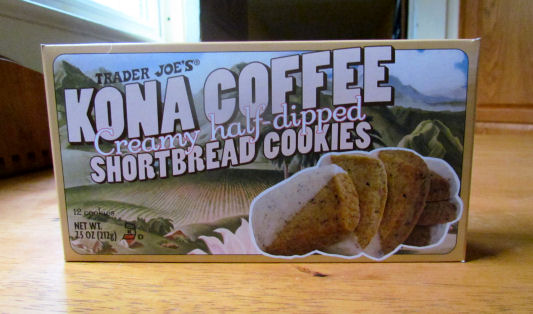 Kona Coffee Creamy Half Dipped Shortbread Cookies