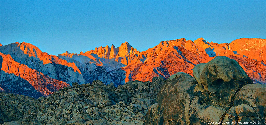 Mt Whitney's Morning Magic Glow (Happy Thanksgiving)