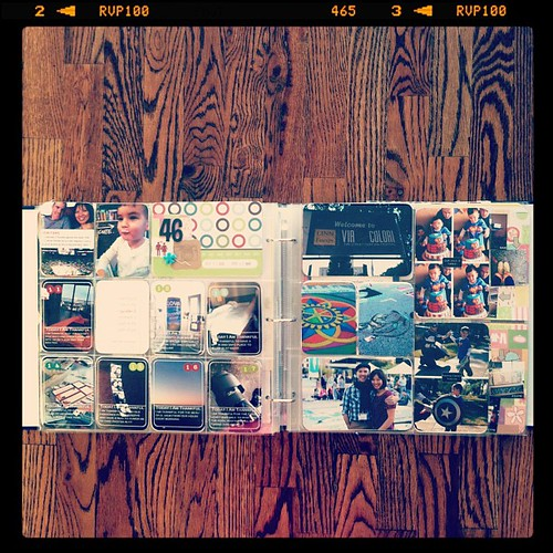 #projectlife week 46 full spread inserts right side