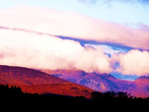 Cloud formations over Rannoch Moor, Scotland