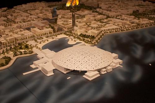 Maqueta del proyecto del Louvre de Abu Dhabi