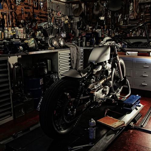 Harley-Davidson Sportster - Vintage Cycle Service Firenze by Alessandro_Morandi