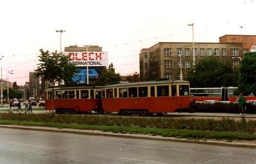 Tram in Szczecin (Stettin) Poland September 1992
