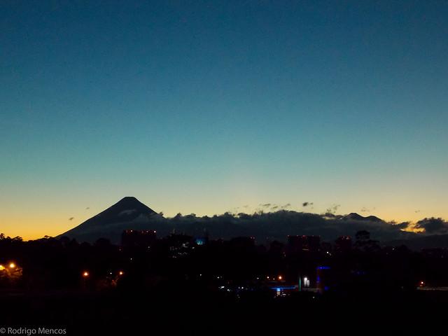 Atardecer en la Ciudad de Guatemala