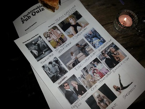 Fashion Pub Quiz
