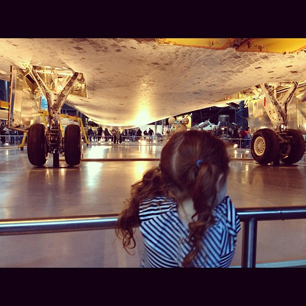 Checking out the space shuttle Discovery.  #latergram #discovery #space