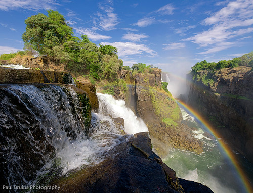 rainbow zimbabwe nik victoriafalls filters cascade nikkorlenses devilscataract neverhdr vertorama nikond800 paulbruinsphotography hougaardmalan