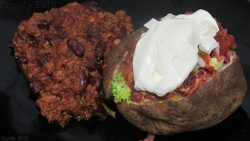 Loaded baked potato and chili by Coyoty