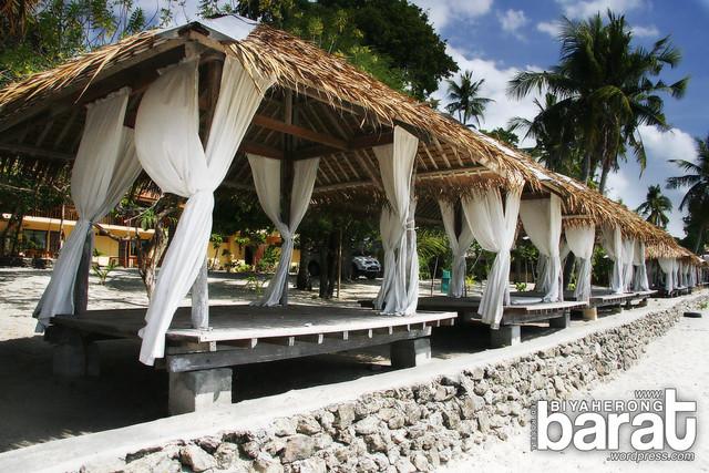 Parasols in laiya beach batangas san juan