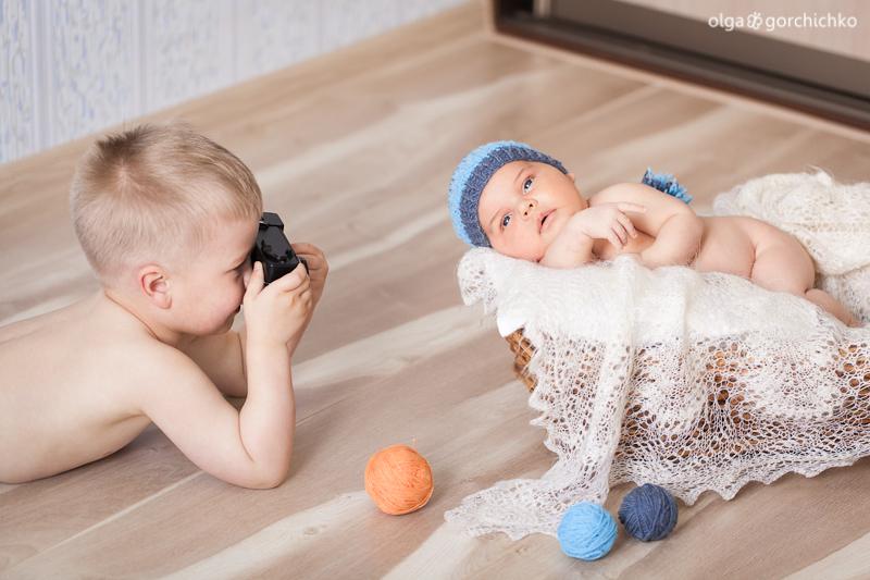 Фотосессия новорожденного Егорушки