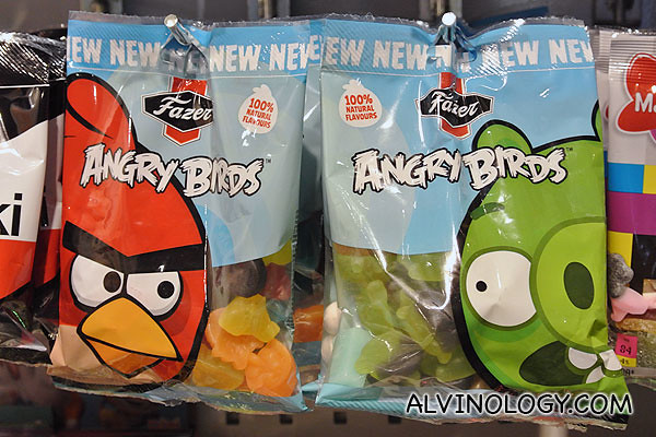 Of course, there's Angry Birds everywhere - like these Angry Birds candies