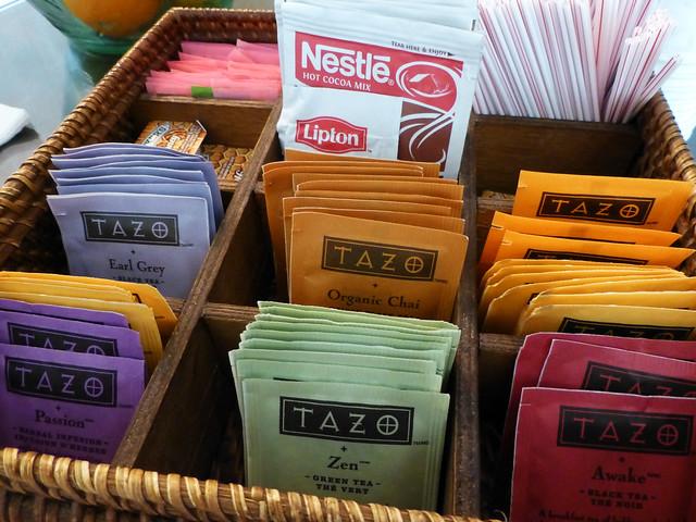 Teas at the spa at Hotel Del Coronado